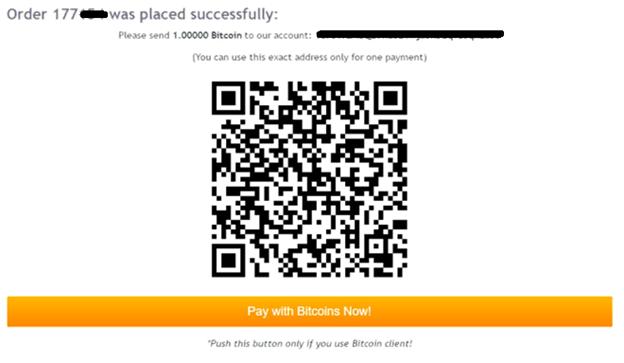 bước 2 - gởi tiền bằng bitcoin