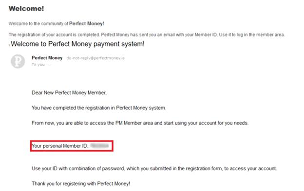 Hướng dẫn đăng ký Perfect Money - bước 4