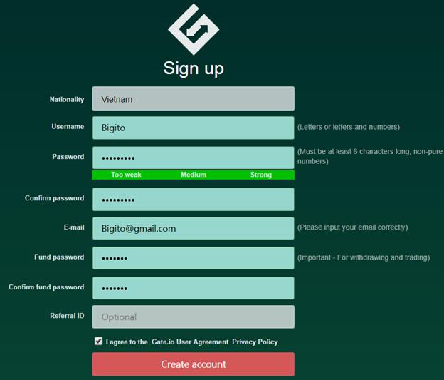 Hướng dẫn đăng ký tài khoản Gate.io1
