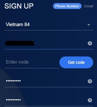 đăng ký tài khoản okex bằng số điện thoại