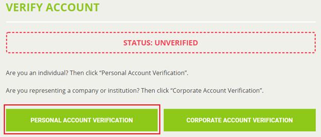 Xác thực tài khoản bước 1