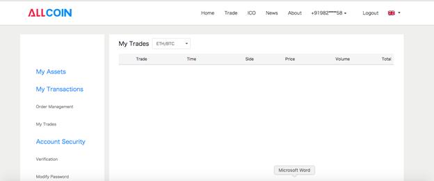 Hướng dẫn Trade trên Sàn Allcoin 1