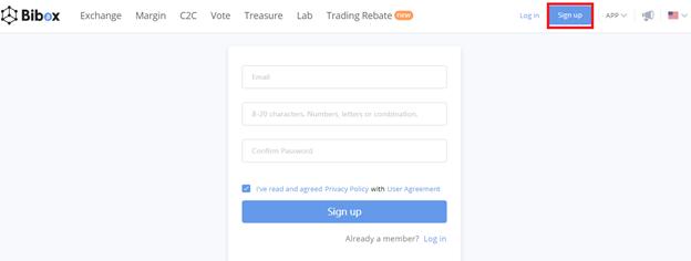 Hướng dẫn đăng ký tài khoản trên Sàn Bibox